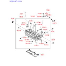 Прокладка головки блока цилиндров (Hyundai-KIA) 224022A110