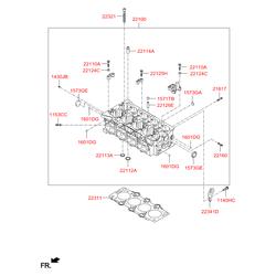 Прокладка ГБЦ металлическая многослойная (Hyundai-KIA) 223112A650