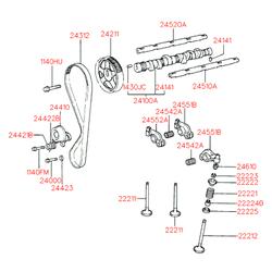 Клапан выпускной ГРМ (Hyundai-KIA) 2221222051