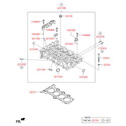 Головка блока цилиндров (Hyundai-KIA) 221002B702