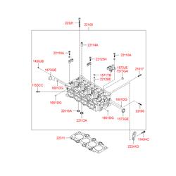 Головка блока цилиндров (Hyundai-KIA) 221002A350
