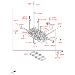 Головка блока цилиндров (Hyundai-KIA) 221002A260