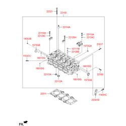 Головка блока цилиндров (Hyundai-KIA) 221002A200