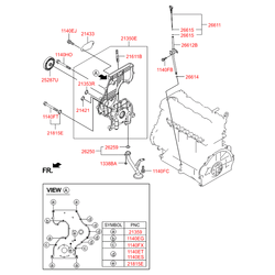 Масляный поддон двигателя (Hyundai-KIA) 215102A320