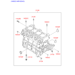 Масляный поддон двигателя (Hyundai-KIA) 215102A102