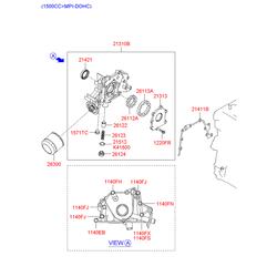 Насос масляный (Hyundai-KIA) 2131026800