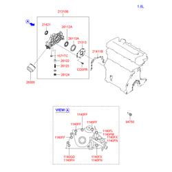 Насос масляный (Hyundai-KIA) 2131026650