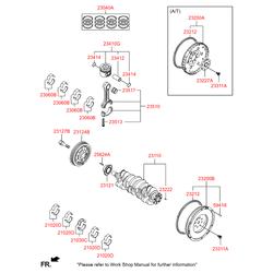 Подшипник скольжения коленвала (Hyundai-KIA) 210202A914