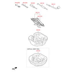 Домкрат (Hyundai-KIA) 09110F2000