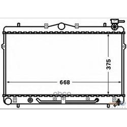 Радиатор, охлаждение двигателя (HELLA) 8MK376768481