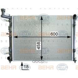 Радиатор, охлаждение двигателя (HELLA) 8MK376763714