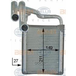 Теплообменник, отопление салона (HELLA) 8FH351315711