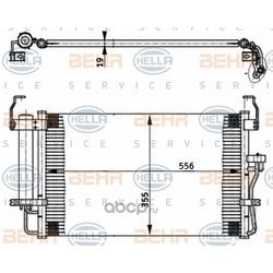 Конденсатор, кондиционер (HELLA) 8FC351302161