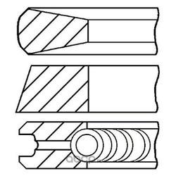 Комплект поршневых колец для цилиндра (Goetze) 0843190000
