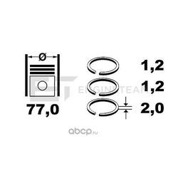 Комплект поршневых колец (ET ENGINETEAM) R4001800