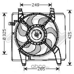 Вентилятор, конденсатор кондиционера (DIEDERICHS) 8682590