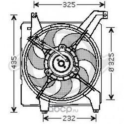 Вентилятор охлаждения двигателя (DIEDERICHS) 6843101