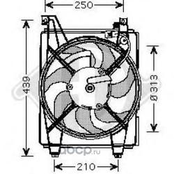 Вентилятор, конденсатор кондиционера (DIEDERICHS) 6843001