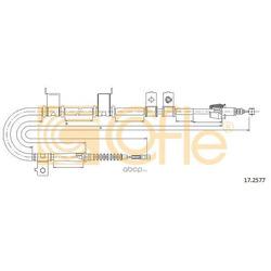 Трос, стояночная тормозная система (Cofle) 172577