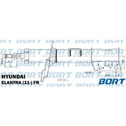 Стойка амортизационная газомасляная передняя правая (BORT) G22048066R