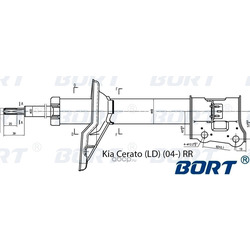 Стойка амортизационная газомасляная задняя правая (BORT) G22048044R