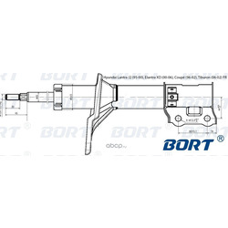 Стойка амортизационная газомасляная передняя правая (BORT) G22048019R