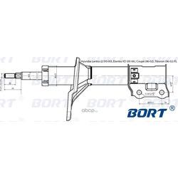 Стойка амортизационная газомасляная передняя левая (BORT) G22048019L