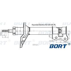Стойка амортизационная газомасляная задняя левая (BORT) G22048015L