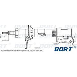 Стойка амортизационная газомасляная задняя левая (BORT) G22048008L