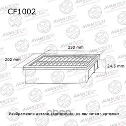 Фильтр салонный (AVANTECH) CF1002