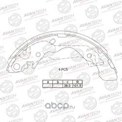 Колодки тормозные барабанные (AVANTECH) AVS1002
