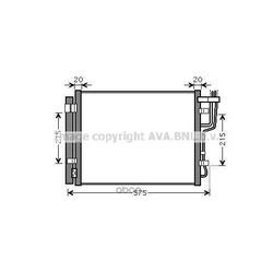 Радиатор кондиционера с осушителем (Ava) KA5100D