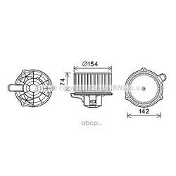 Электродвигатель, вентиляция салона (Ava) HY8349