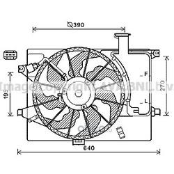 Вентилятор охлаждения двигателя (Ava) HY7567