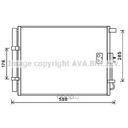 Радиатор кондиционера (Ava) HY5373D