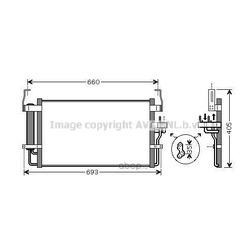 Радиатор кондиционера (конденсер) (Ava) HY5092D