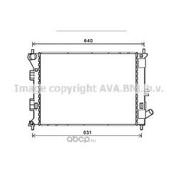Радиатор охлаждения (Ava) HY2335