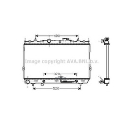 Радиатор системы охлаждения (Ava) HY2105