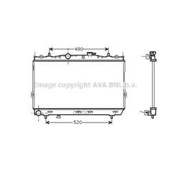 Радиатор охлаждения двигателя (Ava) HY2104