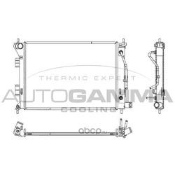 Радиатор, охлаждение двигателя (AUTOGAMMA) 107638