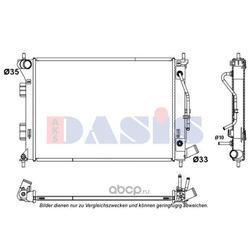 Радиатор, охлаждение двигателя (AKS DASIS) 560093N