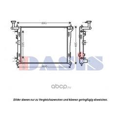 Радиатор, охлаждение двигателя (AKS DASIS) 560032N