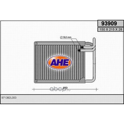 Теплообменник, отопление салона (AHE) 93909