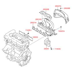 Прокладка выпускного коллектора (Hyundai-KIA) 285212B000