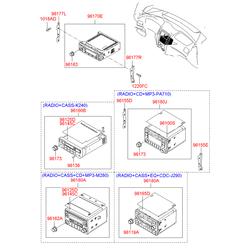 Автомагнитола в сборе (Hyundai-Kia) 961942L000