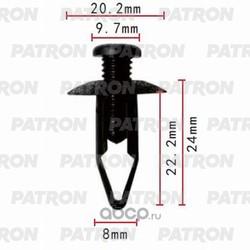 Клипса пластмассовая (PATRON) P370134