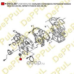 Сальник коленвала передний (DePPuL) DECL267