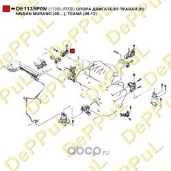 Опора двигателя правая (DePPuL) DE1135P0N