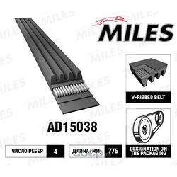 Ремень поликлиновый (Miles) AD15038