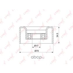 Ролик натяжного механизма / приводной (LYNXauto) PB5130